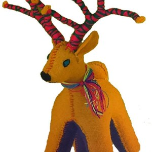 Deer 100% Natural Wool Stuffed Toys Woolly Amigos