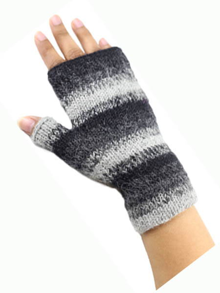 Awana Wrist Warmer, Grey 100% Alpaca, winter wrist warmers for the whole family