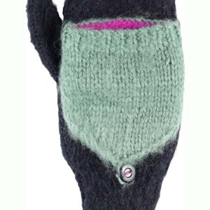 Flitten Convertible Mitten, Black. Alpaca Blend, winter Mittens for the whole family