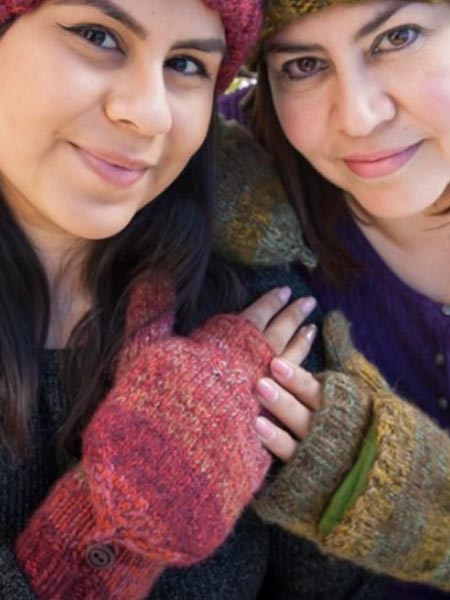 Funky Convertible Mittens, Burgundy. Alpaca Blend, winter Mittens for the whole family
