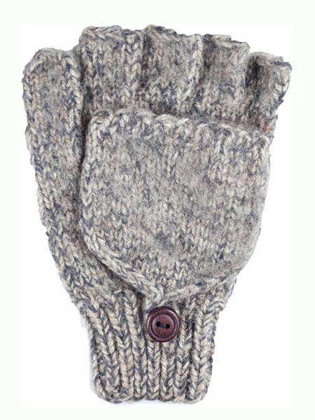 Glitten Convertible Mitten, Ash, Alpaca Blend, winter Mittens for the whole family