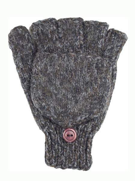 Glitten Convertible Mitten, Black, Alpaca Blend, winter Mittens for the whole family