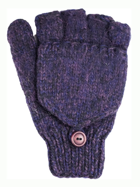 Glitten Convertible Mitten, Grape, Alpaca Blend, winter Mittens for the whole family