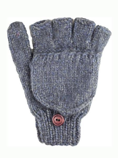 Glitten Convertible Mitten, Steel, Alpaca Blend, winter Mittens for the whole family