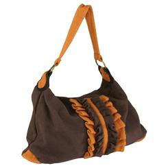 Ruffle Eco Hand Bag