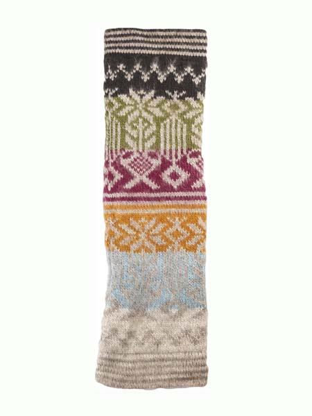 Geometric Leg Warmer Alpaca Blend, Ash, Winter accessories for the whole family