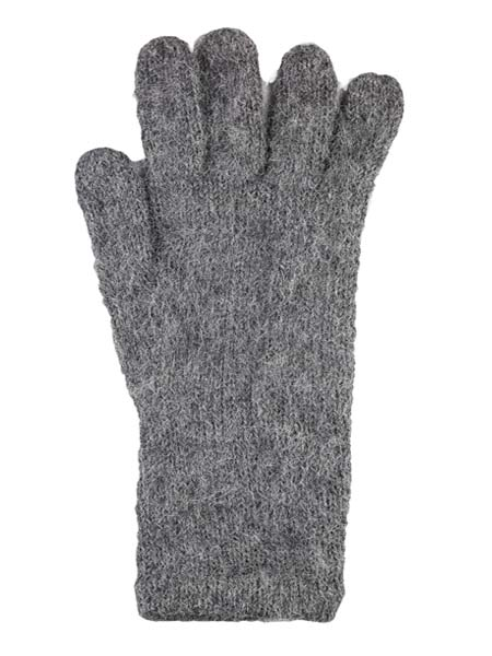 Milkshake Glove, Grey 100% Alpaca, winter glovess for the whole family