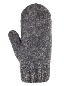 Blended Mittens, Black, Alpaca Blend, winter Mittens for the whole family