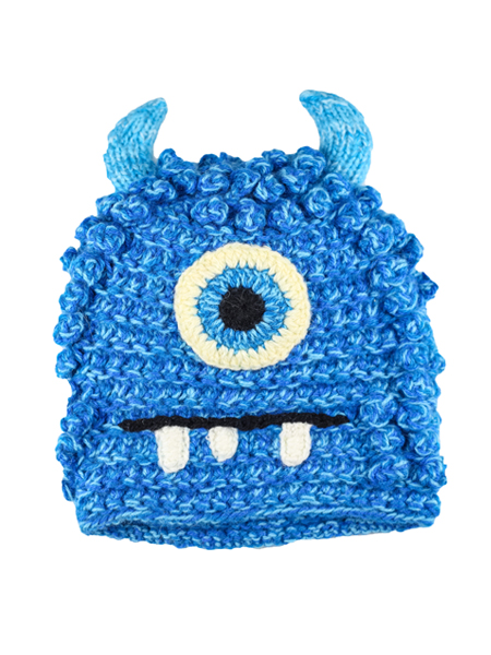 Kids Bally Monster Hat Turquoise