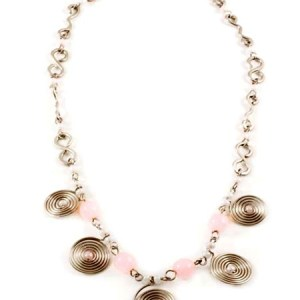 Pink Spiral Necklace