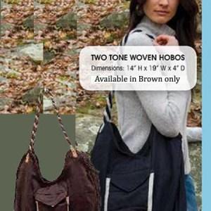 Woven Hobo Bag Brown