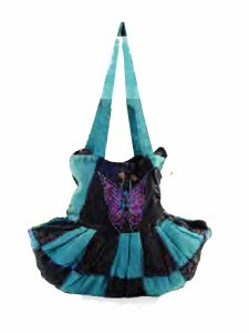Slobo bag butterfly charace, blue and black