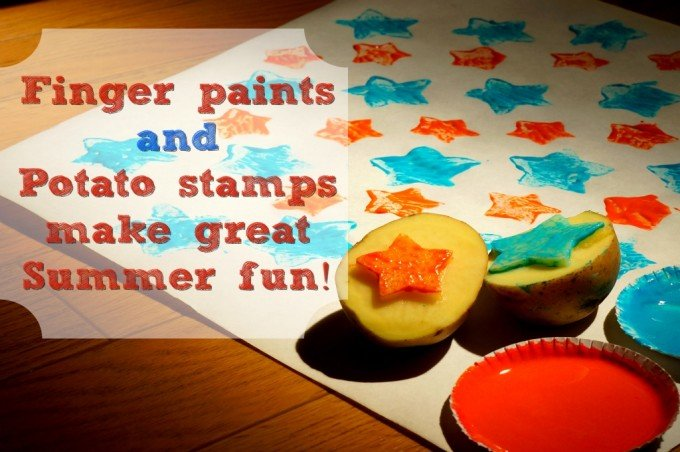 Finger paints and potato stamps make great ooey gooey fun. It's time to unleash your inner artist! Here's a fun, fast and frugal project to amuse the kiddies and make memories … and a mess. All kids know if it's not messy it's not fun.