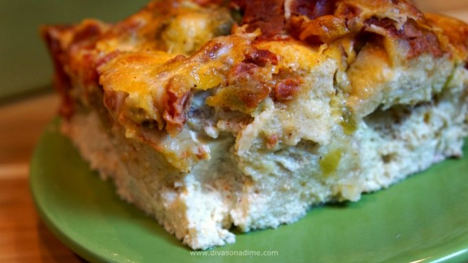 Such a moist, fluffy, creamy, cheesy, tomatoey, peppery casserole!