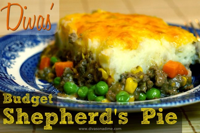 Comfort in a bowl for $1 a serving. Savory beef, the sweetness of peas and carrots topped with creamy mashed potatoes. This satisfies the tummy and soothes the soul.