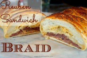 All the flavors of a Rueben sandwich is a beautiful braided loaf! Perfect for St. Patrick's Day or your next brunch or lunch.