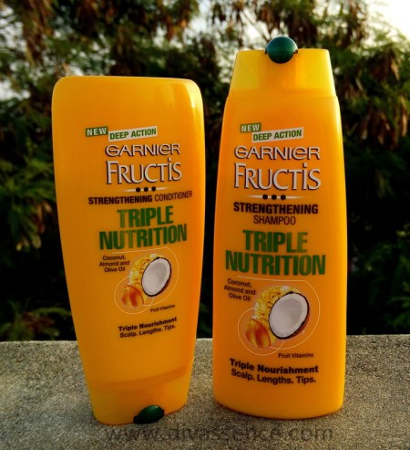 Garnier Tripe Nutrition Shampoo and Conditioner