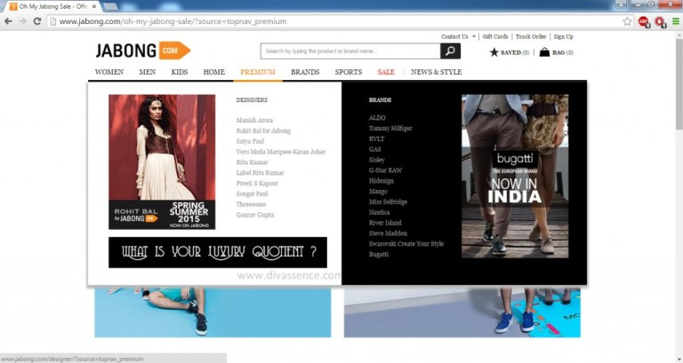 Jabong.com sale, discounts, offers, shop online India