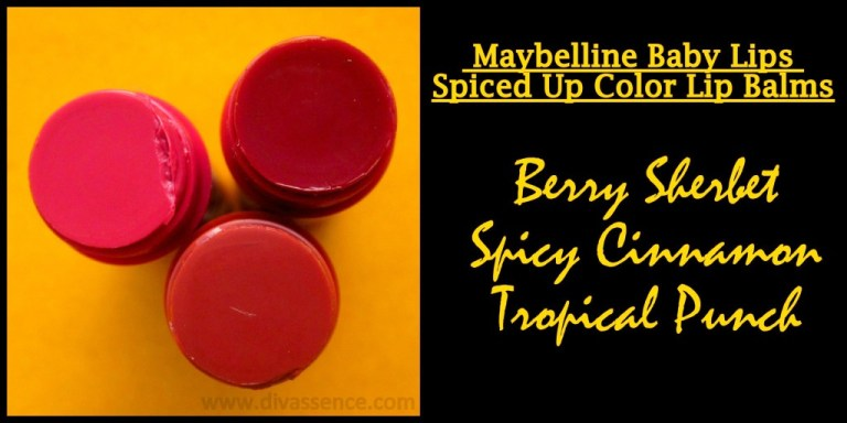 Maybelline Spiced Up Lipbalms Review, Swatches