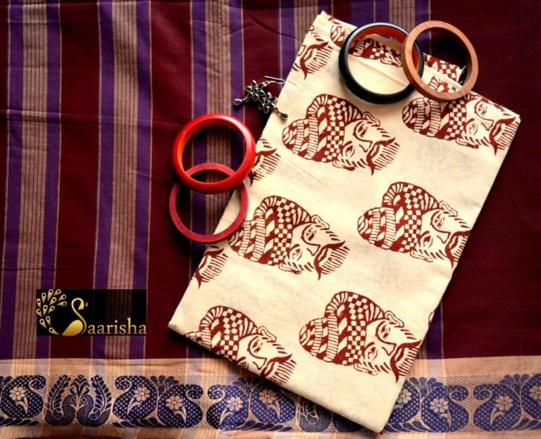 How to style sarees and Kalamkari blouses, Divassence Indian fashion blog, Chennai Saarisha ethnic store, Chennai makeup and fashion blog, the jhmuka diaries