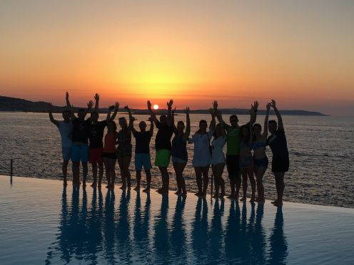 Sunset with DiveBase Team