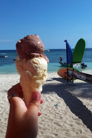 Vegan ice cream on Alona beach Panglao island Philippines