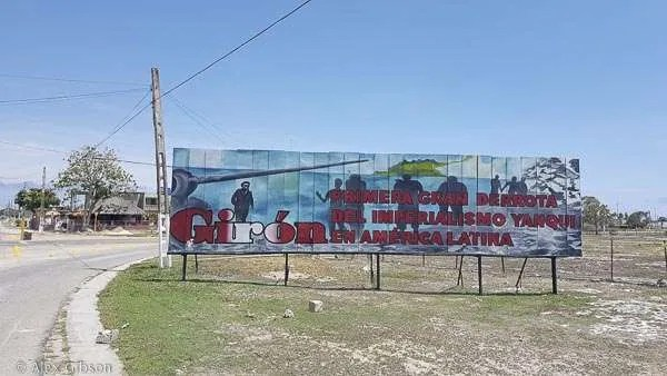 Playa Giron propaganda billboard