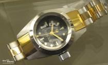 Frontansicht der Deep Sea Special mit der Nummer 36 im Uhrenmuseum Beyer in Zürich
