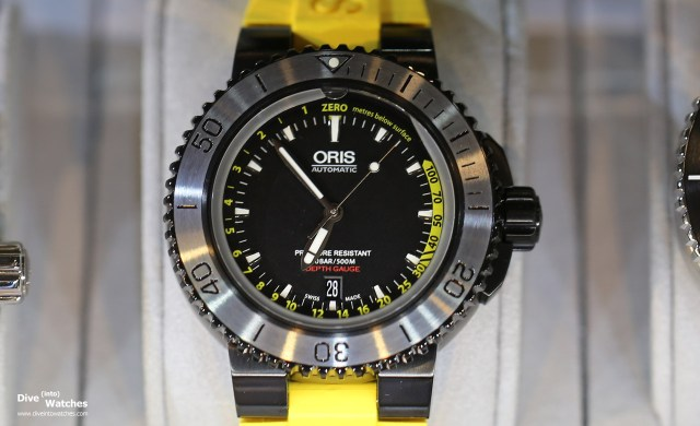 Oris_Depth_Gauge_Yellow_Front_Baselworld_2015
