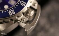 Close-Up: Der Stift arretiert die Drehlünette