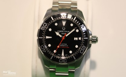 Certina_DS_Action_Diver_Black_Front_Baselworld_2017