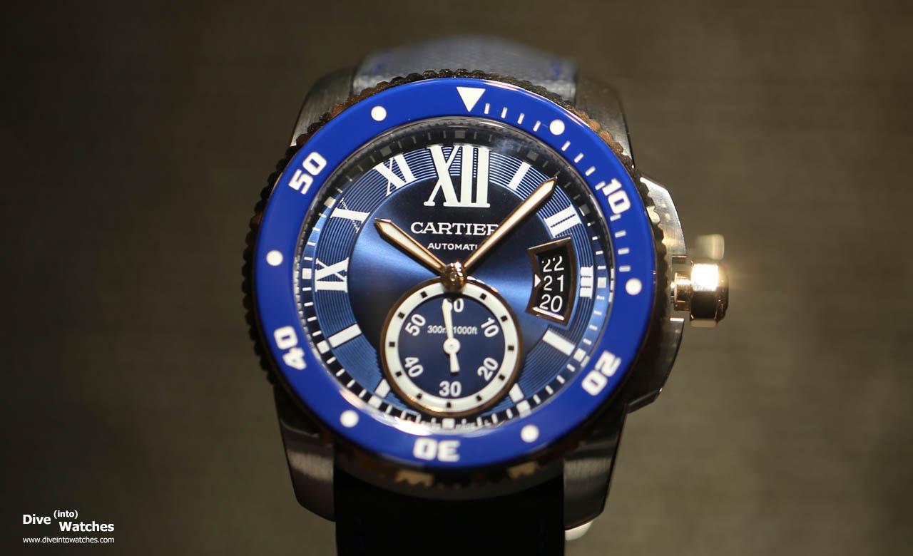 Neue Uhr Cartier Diver Blau