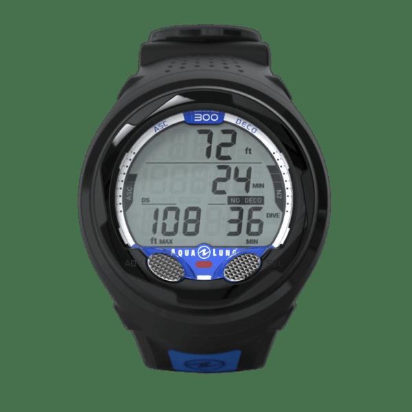 i300-Wrist-Black-Blue-Front