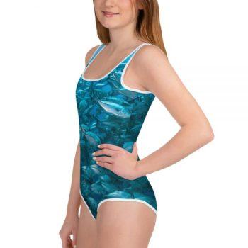 Diver Dena's Adventure Shop-Fintastic Fish Tween Girl's Swimsuit (8-20)