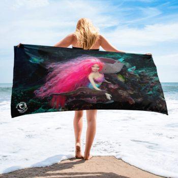 Diver Dena's Adventure Shop-Mermaid Barbi Beach/Shower Towel
