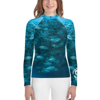 Diver Dena's Adventure Shop - Girl's Fintastic Fish Rash Guard Top