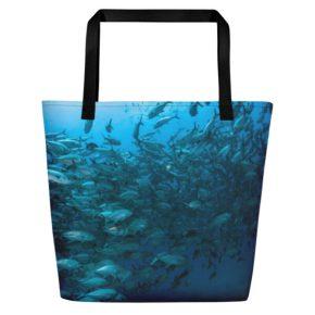Diver Dena's Adventure Shop~ FIntastic Fish Beach Bag