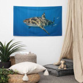 Diver Dena's Adventure Shop-Great White Shark Flag