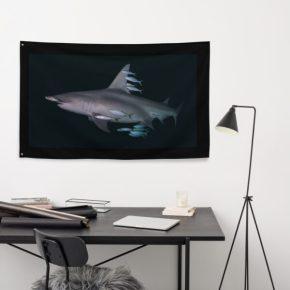 Diver Dena's Adventure Shop-Hammerhead Shark Flag