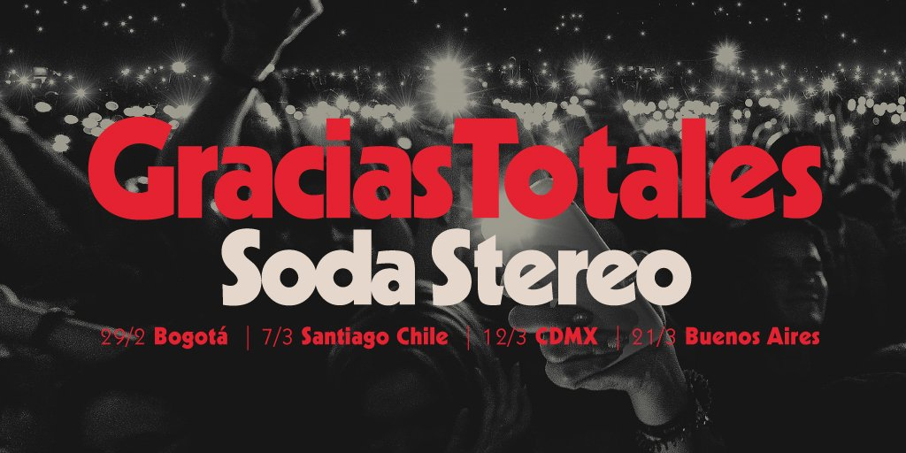 Soda Stereo regresará para dar las 'Gracias Totales' en 2020