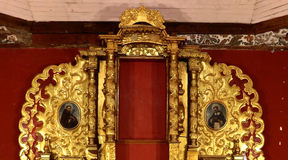 Finaliza restauración del retablo de la iglesia de San Nicolás Tolentino