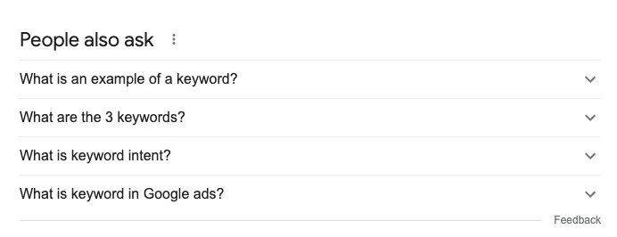 search intent keyword strategy
