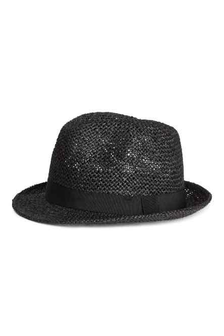 H&M black straw hat