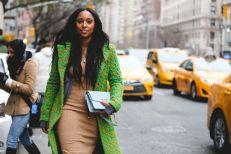 Colorful overcoat