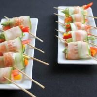 Cucumber Smoked Salmon Lollipops