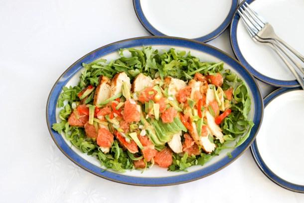 Chicken Grapefruit and Avocado
