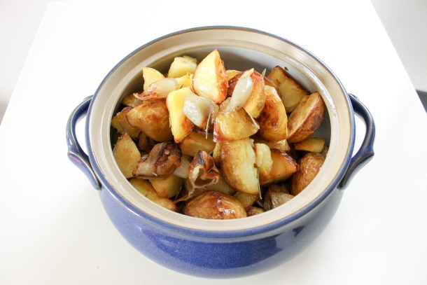 roasted potatoes with shallots
