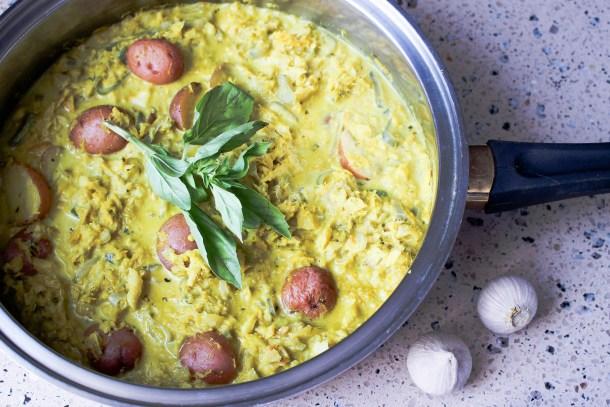 Thai Green Salt Cod Curry