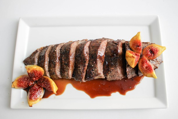 Petite Filet with Baked Figs