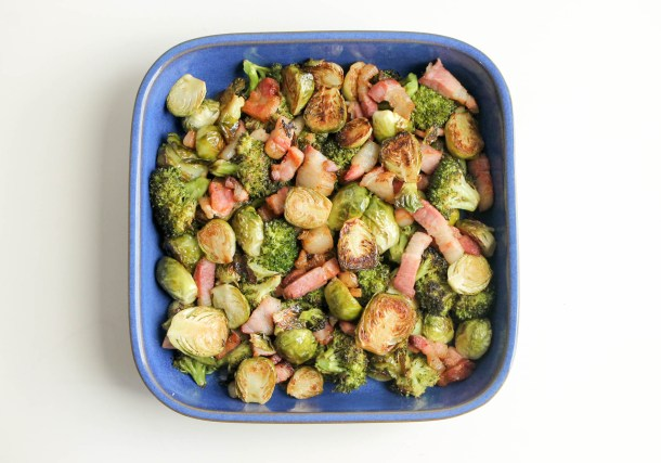 Brussels Sprouts and Broccoli with Bacon 01